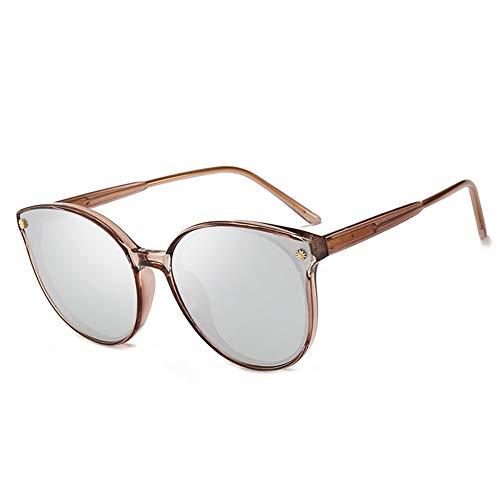 Bunter Polarisierter Sonnenbrillen-weiblicher Treibender Spiegel, Stilvoller, UV-beständiger, Bequemer Augenschutz, Verwendbar Für Eine Vielzahl Von Gesichtstypen. (Color : Brown)