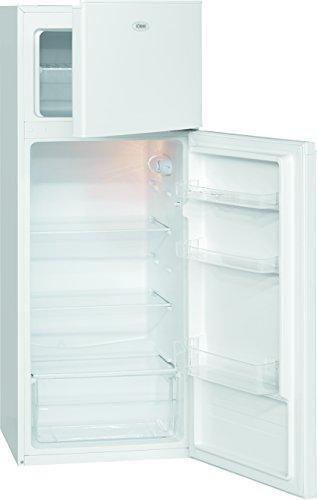 Bomann DT 248 Kühlschrank / A+ / 143 cm / 217 kWh/Jahr /166 L Kühlteil / 41 L Gefrierteil / Bruttoinhalt 210 L / weiß
