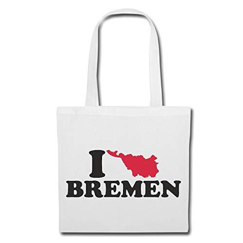 Tasche Umhängetasche I Love Bremen - Deutschland - Germany - Hafen - Hauptstadt Einkaufstasche Schulbeutel Turnbeutel in Weiß