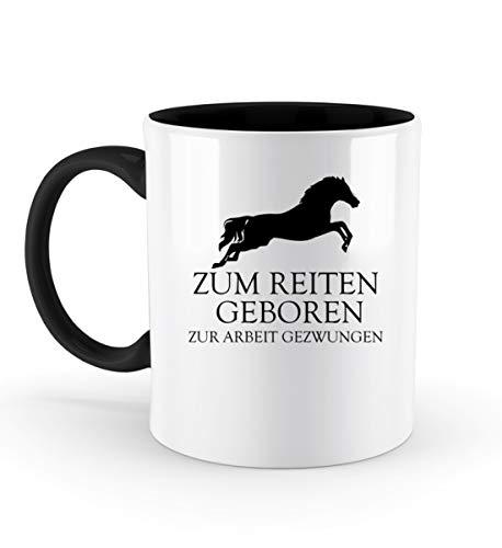 PlimPlom Zum Reiten Geboren Kaffeetasse Pferde Reitsport Tasse Spaßgeschenk Spruch Geschenk Idee -...