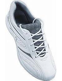 Deporte Henselite Tiger señoras blancas cuencos y zapatos de deportes, blanco, 8