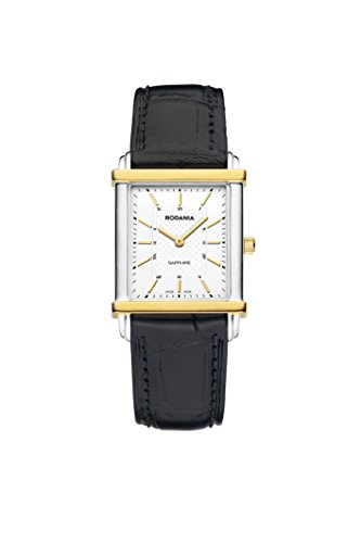 RODANIA - Damen-Armband-Uhr Analog-Quarz Leder schwarz - 414464