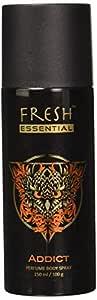 Fresh Essential Perfume Body Spray - Addict, 150 ml /100g (Pack of 3)