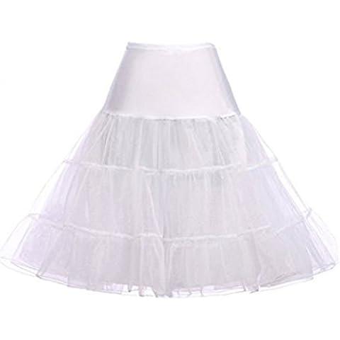 Hosaire 1X Sottogonna battenti Vintage Petticoat Fancy Net Gonna Rockabilly Tutu (BIANCO), Le ragazze e le donne sono la scelta migliore, Gonne,L