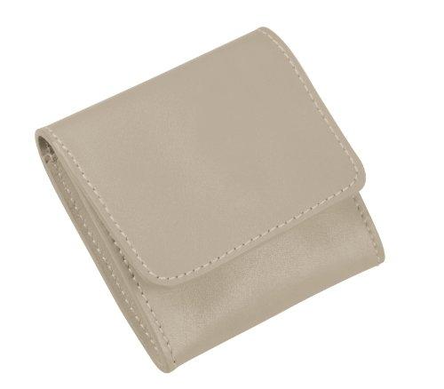 Französisch Geldbörse Damen Brieftasche (Lucrin PM1013_VCLS_TPC Börse für Kleingeld aus Färsenleder, glatt, hellbraun)