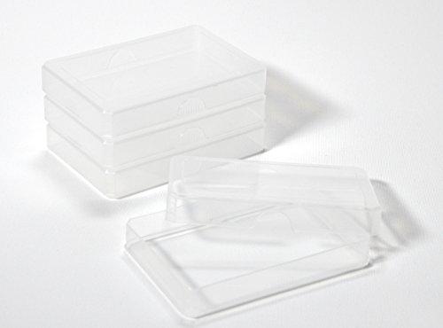 4 x Kunststoffboxen Ordnungshilfen mittel (Größe 9,5 x 6,5 x 1,5 cm) - Grundschule plus