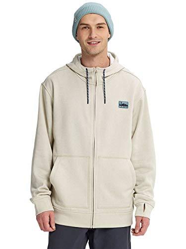 Burton Herren Eiche Full Zip Sweatshirt, Pelican Heather, Größe XXL Burton Full Zip Sweatshirt