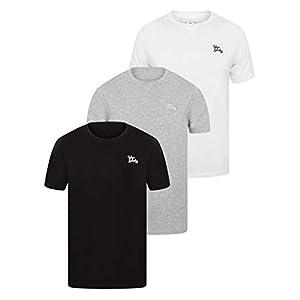 a8fa7ca7327d Tokyo Laundry Mens 3 Pack Plain Combed Cotton Tee T-Shirt Top Plain Mix  Colours