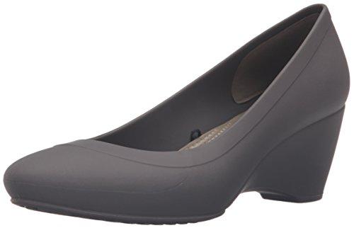 Crocs Women's Linawedge Ballet Flats, Brown (Espresso), 7 UK