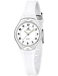 Calypso - K5163/H - Montre Fille - Quartz - Analogique - Bracelet Caoutchouc blanc