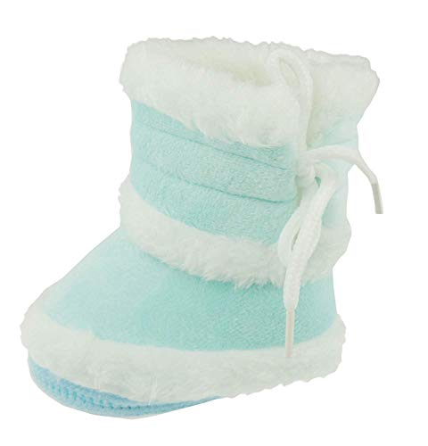 6a5c1b343a97 Super Cute Baby Girls Boys Fleece Pram Shoes Warm Winter Booties azul azul  celeste Talla