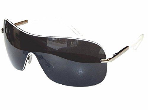Sonnenbrille Aviator Brille Pornobrille Damen Herren mit Flexbügel Auswahl M 8 (Silber Weiß Grau)
