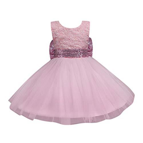 Uomogo vestito festa da principessa paillettes matrimonio farfalla e fiore vestito per compleanno partito festa nuziale prom 1-4 anni, 80-120 cm