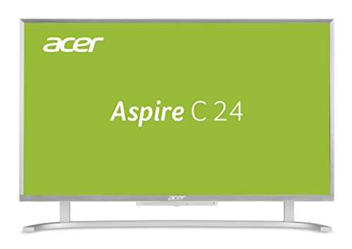 Acer Aspire C24-865 (23,8 Zoll Full-HD) All-in-One Desktop PC (Intel Core i5-8250U, 8 GB RAM, 256 GB SSD + 2000 GB HDD, Intel UHD, Win 10, inkl. USB Tastatur + USB Maus) silber