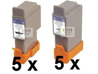 Preisvergleich Produktbild 10 Druckerpatronen Canon i250 i320 i350 i450 i450 i455 i470D i475D / Canon s100 S200 S300 S330 s5000 / Canon Pixma iP1000 iP1500 iP2000 MP110 MP130 / Canon SmartBase MP360 MP360S MP370 MP390 MPC190 MPC190S MPC200 / Canon Fax B180 B210C 215C B230C B740 / Canon BJC-2000 BJC-2100 BJC-4000 BJC-4200 BJC-4200 Photo BJC-4300 BJC-4300Photo BJC-4400 BJC-4550 BJC-4650 BJC-5000 BJC-5100 BJC-5500 Sie bekommen 5 x Schwarz und 5 x Color Einzelpatronen im Shop kompatibel