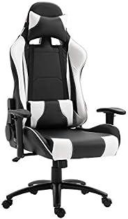 Mahmayi Gumi 09854 High Back Video Gaming Chair – PU Leatherette Upholstered Ergonomic 360 Swivel Game Chair w