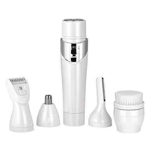 Elektrische lippenstift epilierer 5 in 1 Wireless multifunktions USB lade tragbare Schmerzlose Mini Haarentfernung Rasierwerkzeug Rasierapparat