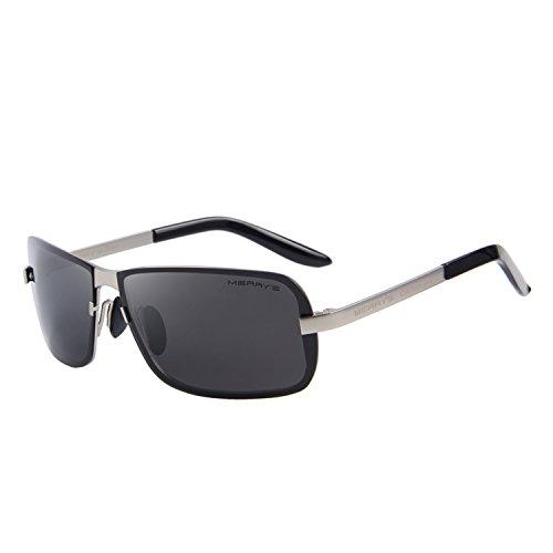 MERRY'S Herren Sonnenbrille, silber, S8722-3-Box1