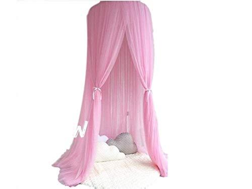 Betthimmel Baldachin für Mädchen und Jungen Deko Kinder Kinderzimmer Bett Moskitonetz rosa pink 60 x 240 cm aus Tüll (Rosa)