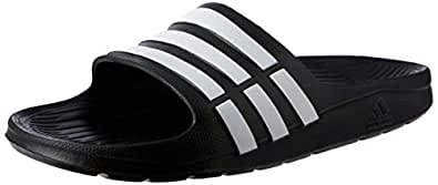 Adidas Men's Duramo Slide Black and White Flip-Flops and House Slippers - 8 UK/India (42 EU) (Duramo Slide)