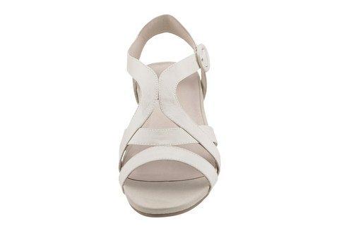 Sandale Damen Weite F von Hush Puppies in Beige Weiß