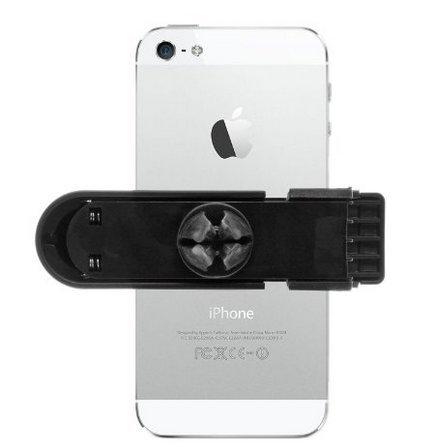 Support orientable noir pour tenir le téléphone en voiture