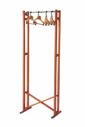 Foppapedretti snake 60 appendiabiti pieghevole, in legno, noce, 66x43x177 mm