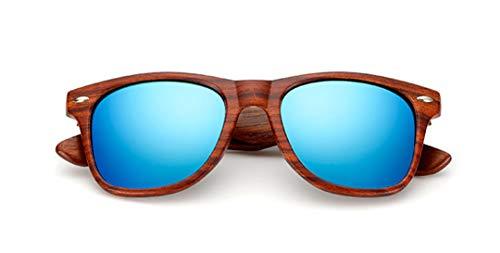 DAIYSNAFDN Handgefertigte Holz Sonnenbrille Männer Frauen Platz Sonnenbrille Holz Brille Uv400 Spiegel C3