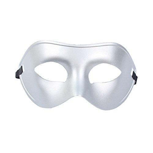 Gazechimp Herren Maskerade Augenmaske Maskenball Kostüm , Halbe Gesicht Design - (Maskenball Herren Kostüme)