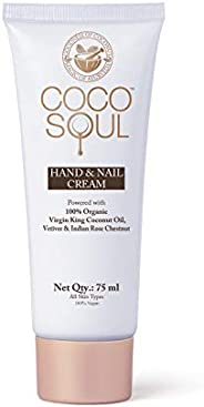 Coco Soul Beauty Hand & Nail Cream With Virgin King Coconut Oil (Vegan, Sulphate & Paraben Free