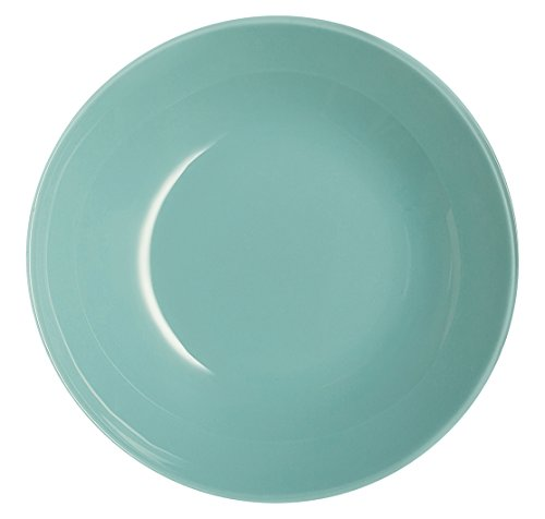 Luminarc L1124 6 Assiettes calottes 20 cm-Arty Soft Blue, Verre trempé, Bleu, 20x20x4 cm