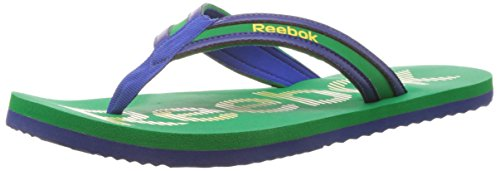 Reebok Men's Reebok Camo Flip Lp Green, Yellow and Blue Flip-Flops and House Slippers - 9 UK  available at amazon for Rs.609