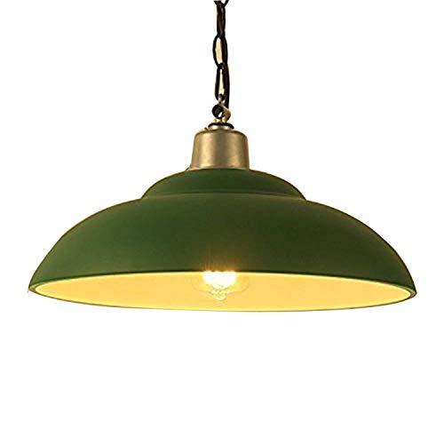 Asvert Design Industrielle Vintage Pendelleuchte Metall Hängeleuchte Φ 30cm für E27 Leuchtmittel Grün für Wohnzimmer Esszimmer Küche Restaurant Bar Eingang Kelle Café Untergeschoss usw. (Enthält keine Glühbirnen)