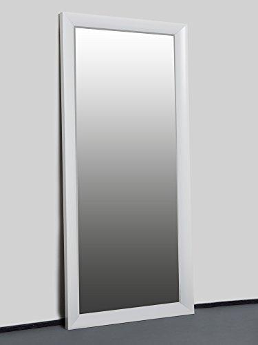 Specchio da parete bianco, 150 x 60 cm, con cornice elegante e ...