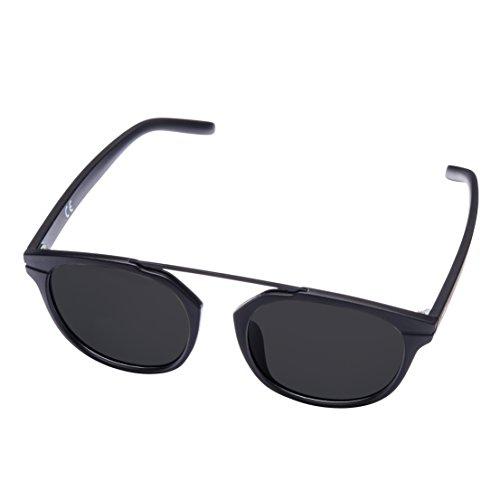 MIRA MR-811 Schwarze Damen Sonnenbrille - Polarisierte Brillengläser mit 100% UVA- und UVB-Schutz - Komfortables Retro-Design - Inklusive Geschenkbox & Mikrofaser-Tragetasche