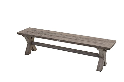Ploß Outdoor furniture Bank, Lincoln, grau, 180x40x45 cm, 0,1544 ml, 1020353