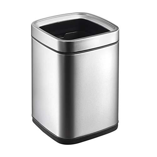 Mülleimer Metall Abfallbehälter, Open Top Office Papierkorb, Doppelschicht (Color : A) 50l Open Top Bin
