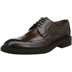Lottusse L6724, Zapatos de Cordones Brogue para Hombre, Negro Jocker Old Teak, 41 EU