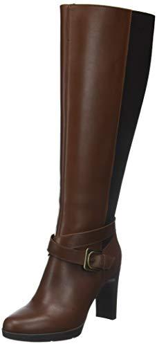 Geox D Annya High F, Botas Altas para Mujer, (Brown C0013), 39 EU
