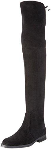 Buffalo London Damen 2870 Micro Strech Langschaft Stiefel, Schwarz (Black 01), 41 EU