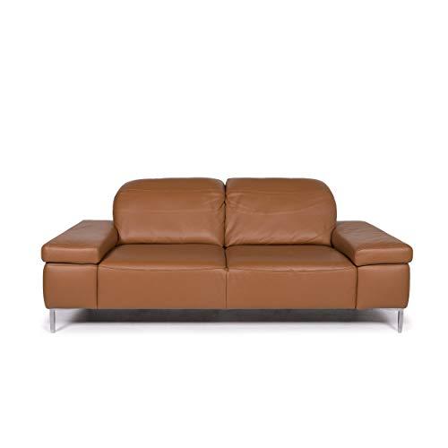 Willi Schillig Leder Sofa Cognac Braun Zweisitzer Funktion Couch #12101