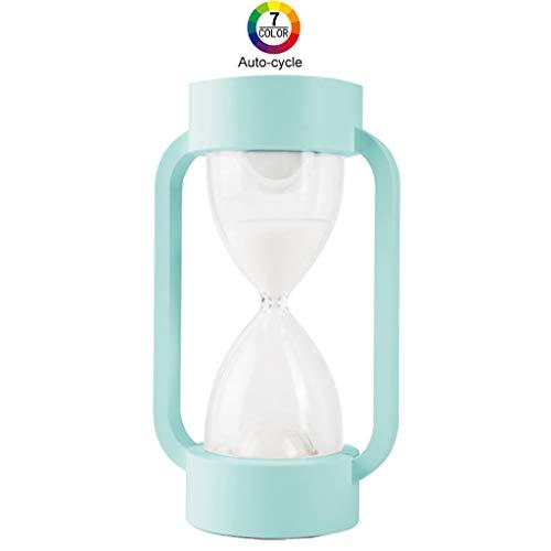 Sanduhr Sanduhr Lampe 7 Farbe Nachtlicht für Kinder Bleiben Fokus, Geburtstagsgeschenke, Studenten und Dekoration 10 Minuten (Blau) -