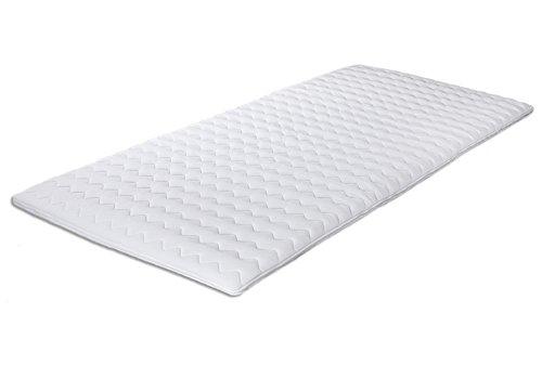Komfortschaum-Topper Gina 100 x 190 cm | Made IN Germany | Höhe ca. 4,5cm | Hochwertiger Bezug | Matratzenauflage für Boxspring-Betten | Topper in Verschiedenen Größen