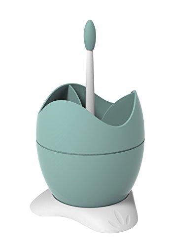 BIESSE Abtropfbehälter für Besteck, mit Auffangbehälter mit Griff, grün