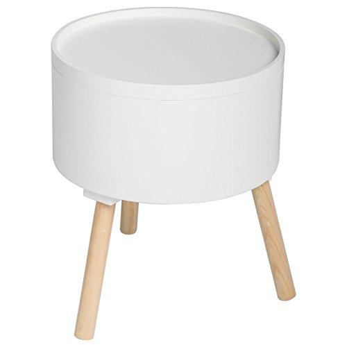 2 en 1 Table basse + coffre de rangement - Style scandinave - Coloris BLANC