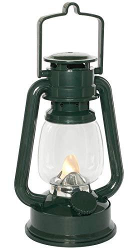 CBK-MS LED Sturmlaterne grün warmweis flackernd Dekoleuchte Batteriebetrieb Dekolampe Fensterdeko