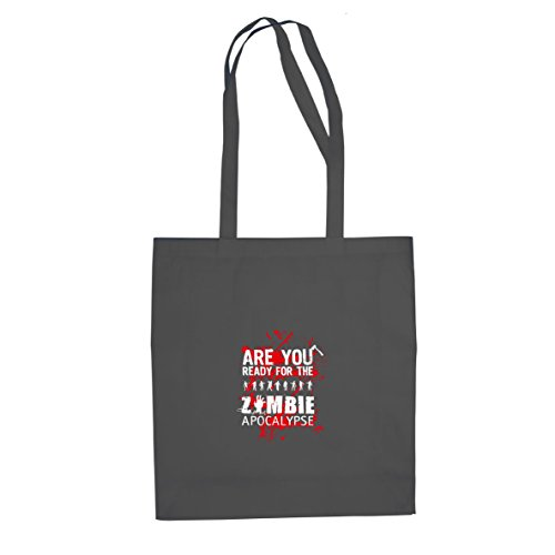 Are you ready for the Zombie Apocalypse - Stofftasche / Beutel, Farbe: grau