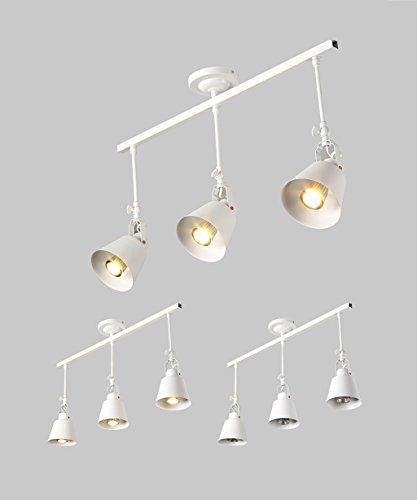 CHAOXIAN Bügeleisen Single / Doppel / Drei / Vier Lichter LED-Deckenstrahler deckenleuchte retro lange Pole hintergrundwand scheinwerfer Innenbeleuchtung ( Farbe : Weiß , größe : C )