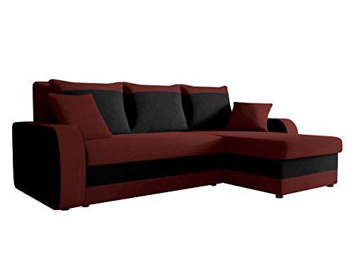 Ecksofa Kristofer, Design Eckcouch Couch! mit Schlaffunktion, Zwei Bettkasten, Farbauswahl, Wohnlandschaft! Bettfunktion! L-Form Sofa! Seite Universal! (Mikrofaza 0045 + Mikrofaza 0015)