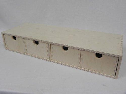 Kommode Schubladenbox Box Holzbox Schubladenelement Aufbewahrungsbox Holz Allzweckkiste - 1S4- DECOUPAGE! Unbemalt, einfach und glatt!